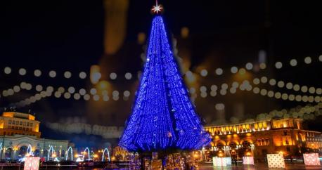 christmas tree in yerevan