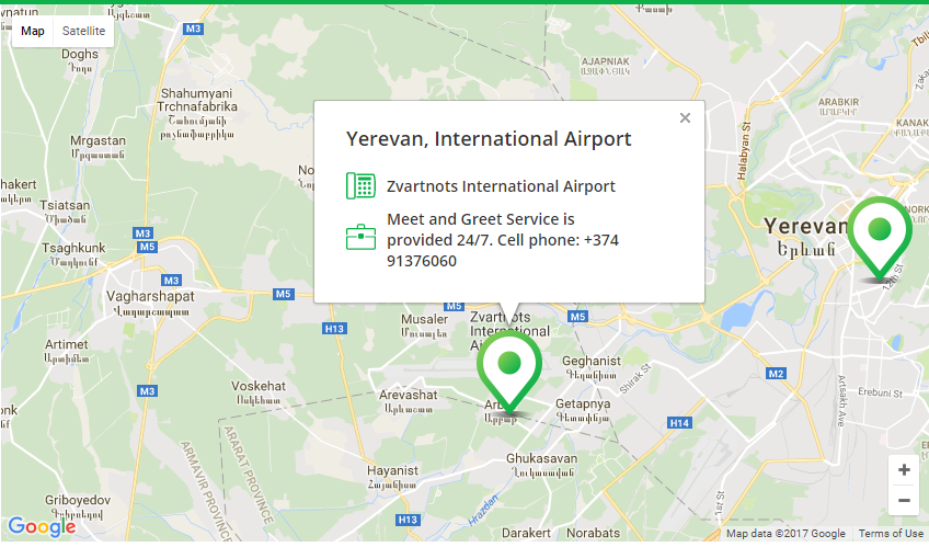 rent car from yerevan airport